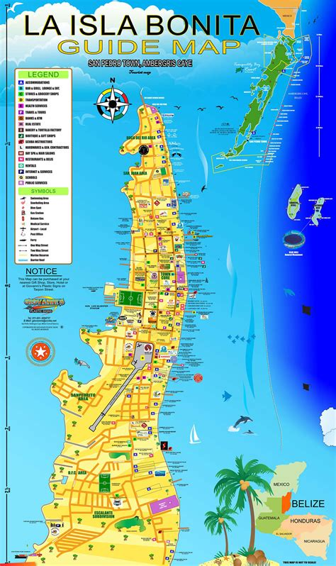 Giovanni Marin's Awesome Map of Ambergris Caye and San