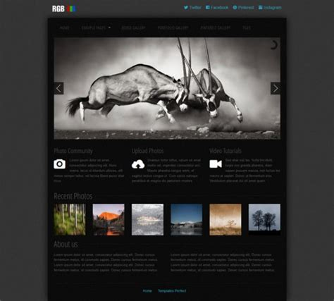 Templates Perfect: Free photo gallery css web template