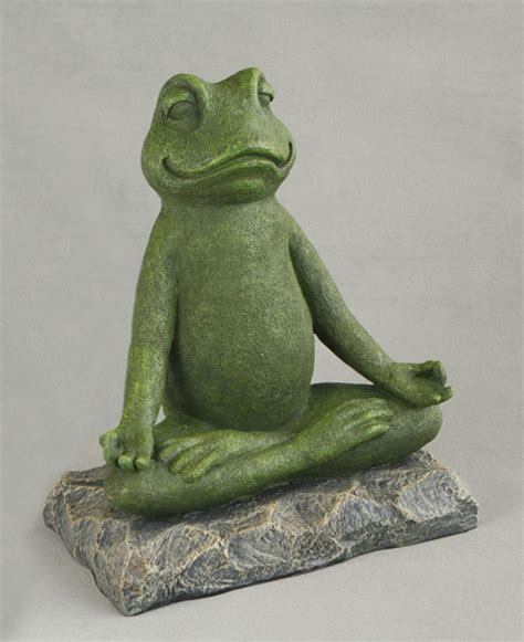 Yoga Frog Statue in Meditation for Home and Garden
