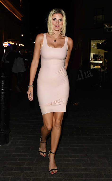 Ashley James in a Sexy Pink Dress Arrives at Toy Room Club