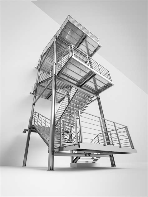 Emergency stairs, staircases for emergency, safety