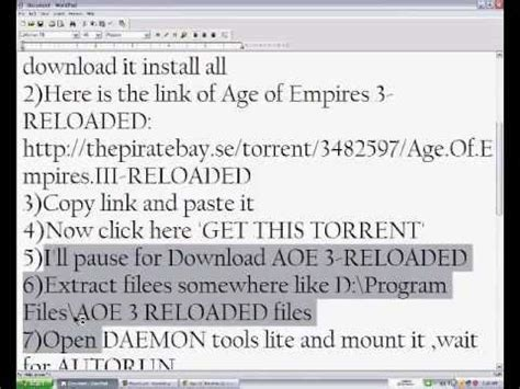 How to download and Install Age of Empires III-RELOADED