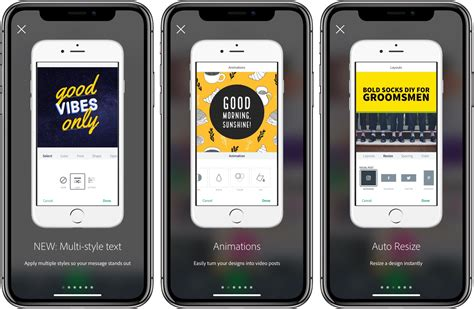Adobe Spark Post for iOS brings content-aware layouts