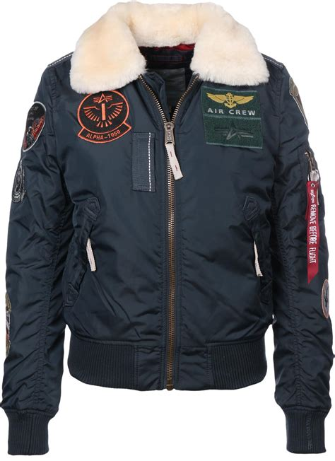 Alpha Industries Injector III Patch W bomber jacket blue