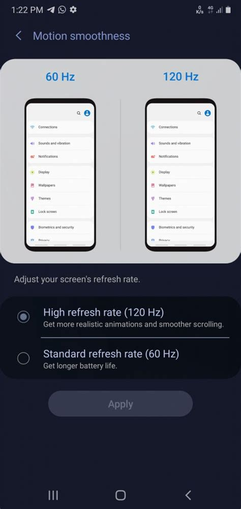 Galaxy Note 10 and Galaxy S10 get 120Hz refresh rate with