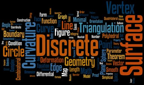 Word Cloud of Discrete Differential Geometry