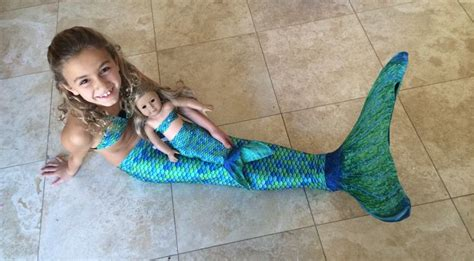Mermaid Twins! Not only can you buy a mermaid tail for