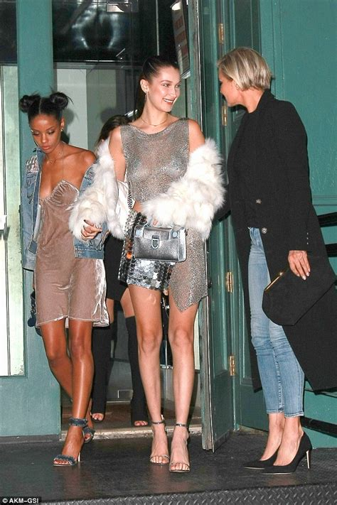 Bella Hadid Is Practically NAKED in This Disco-Fever
