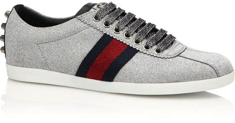 Gucci Bambi Glitter Sneakers in Gray   Lyst