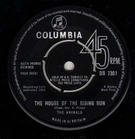 The Animals - The House Of The Rising Sun (1964, Vinyl