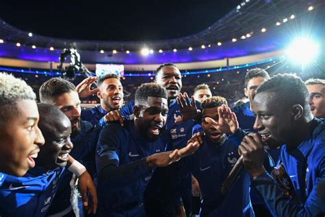 N'Golo Kante song with English lyrics as France players